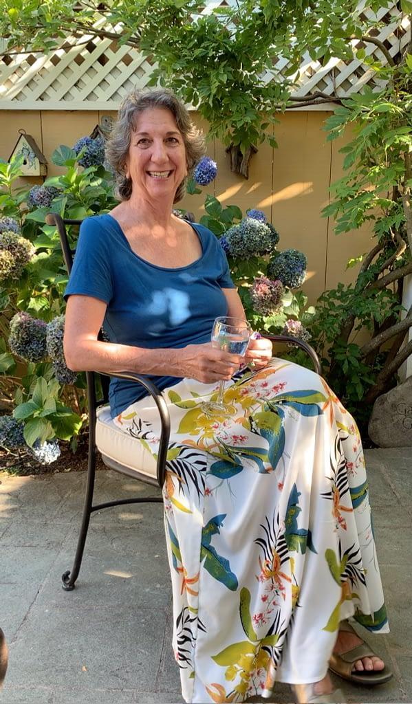 Heidi Hornberger, photographer for The Lifelong Gardener, celebrating at the book launch event.