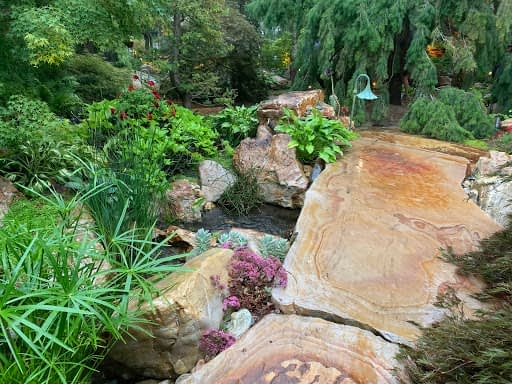 Mother Nature at her best:  magnificent stone pathways, six to eight inches deep and eight to ten feet long.