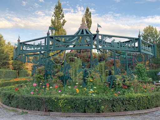 The Carousel Garden at the Ashton Gardens at Thanksgiving Point.