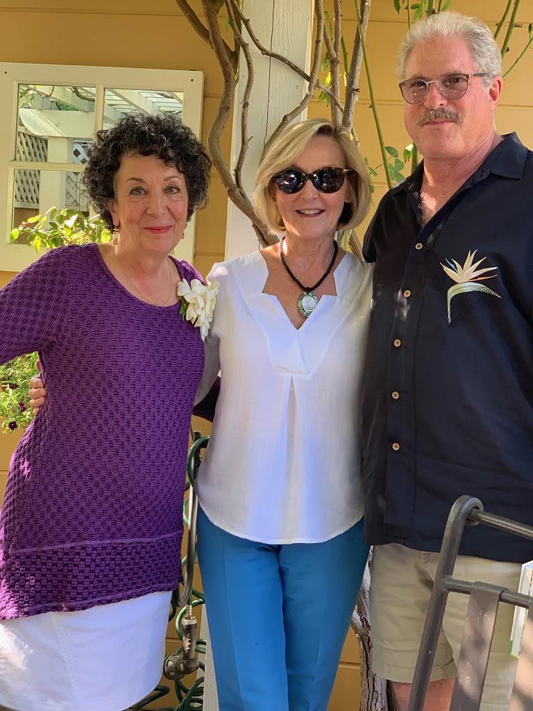 Book contributors, Bob Lasser and Pat Shepherd congratulating Toni Gattone at The Lifelong Gardener book launch event.